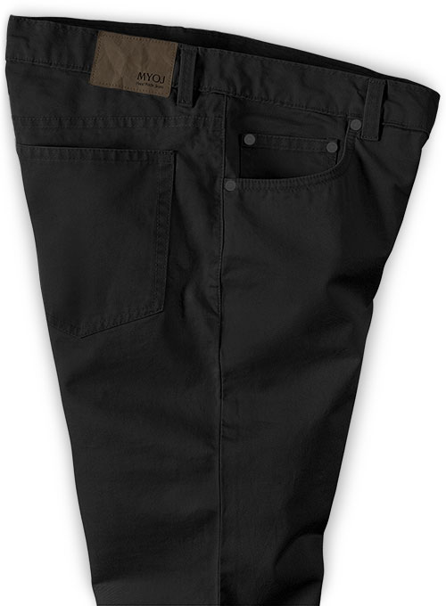 Summer Weight Black Chino Jeans - Click Image to Close