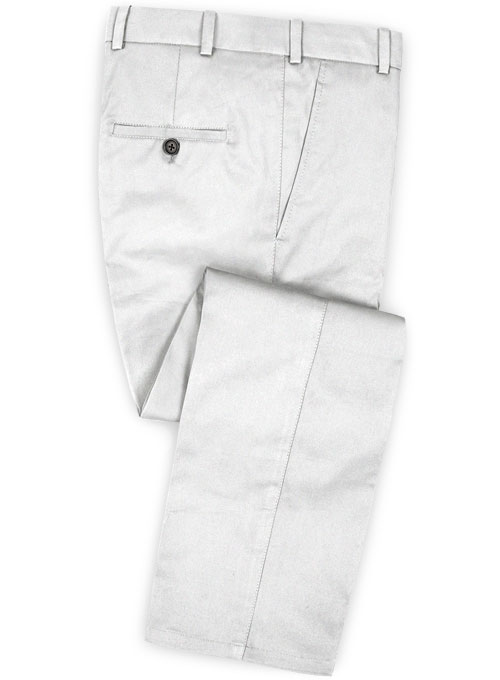 Summer Weight White Chino Pants