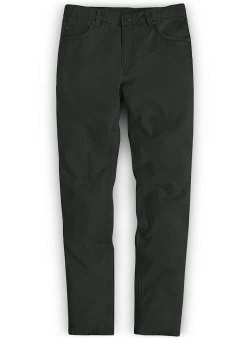 Super Dark Gray Chino Jeans