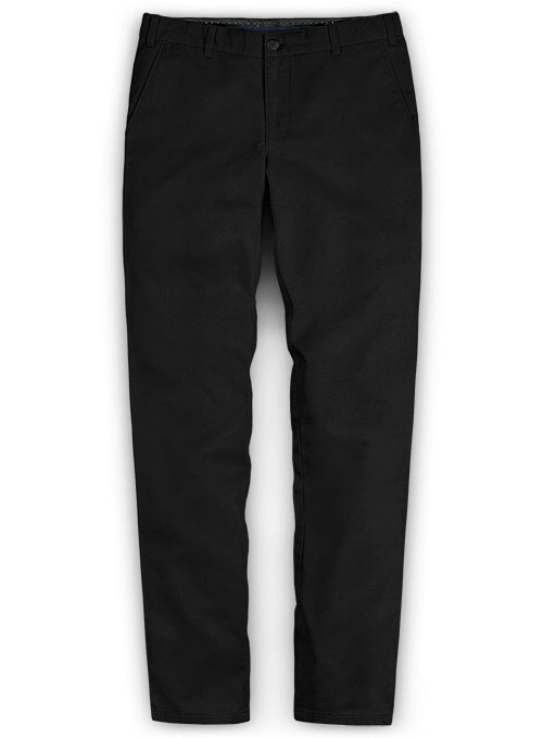 Summer Weight Black Chinos