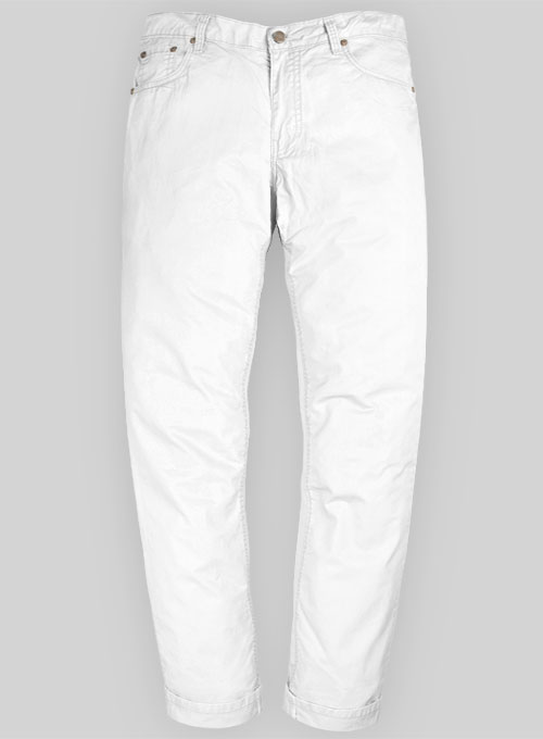 Summer Weight White Chino Jeans Makeyourownjeans Made To Measure Custom Jeans For Men