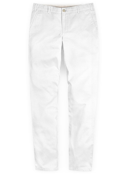 Summer Weight White Chinos Makeyourownjeans Made To Measure Custom Jeans For Men Women