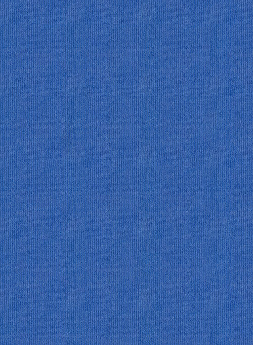 Turkish Blue 21 Wales Stretch Corduroy Trousers