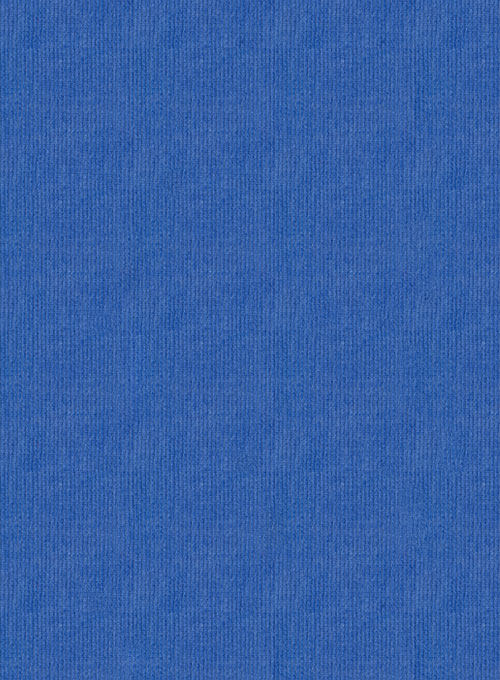 Turkish Blue Stretch Corduroy Jeans - 21 Wales - Click Image to Close