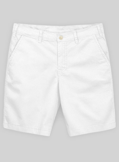 White Summer Weight Chino Shorts