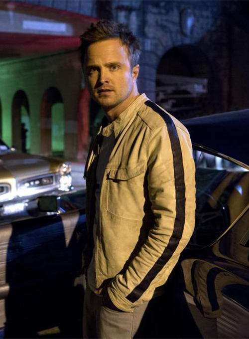 Aaron Paul Need For Speed Leather Jacket