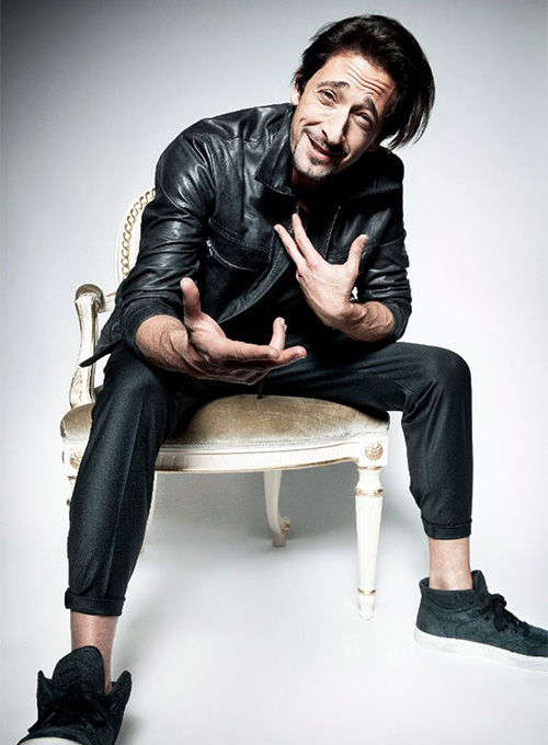 Adrien Brody GQ Russia Leather Jacket