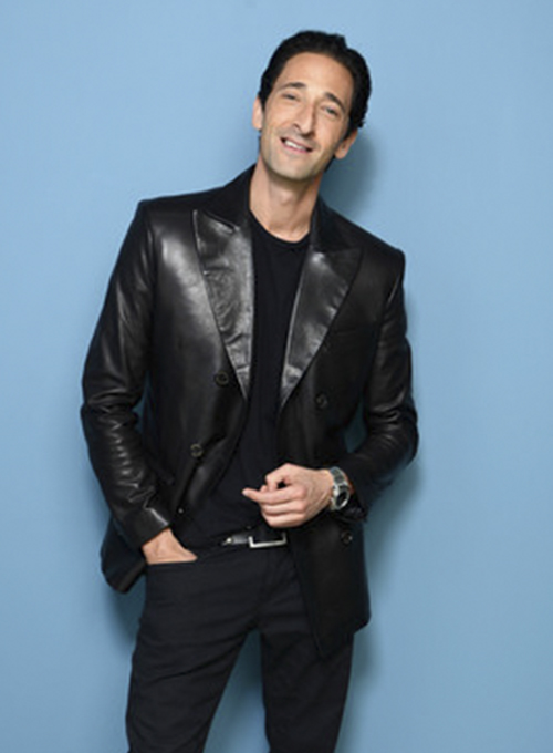 Adrien Brody Leather Blazer - Click Image to Close
