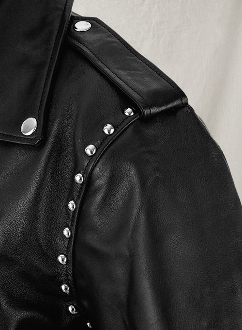 Basic Studded Leather Jacket