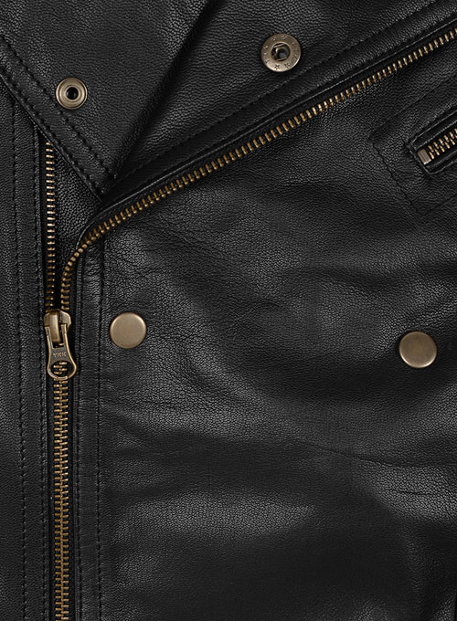Leather Biker Jacket #444 - Click Image to Close