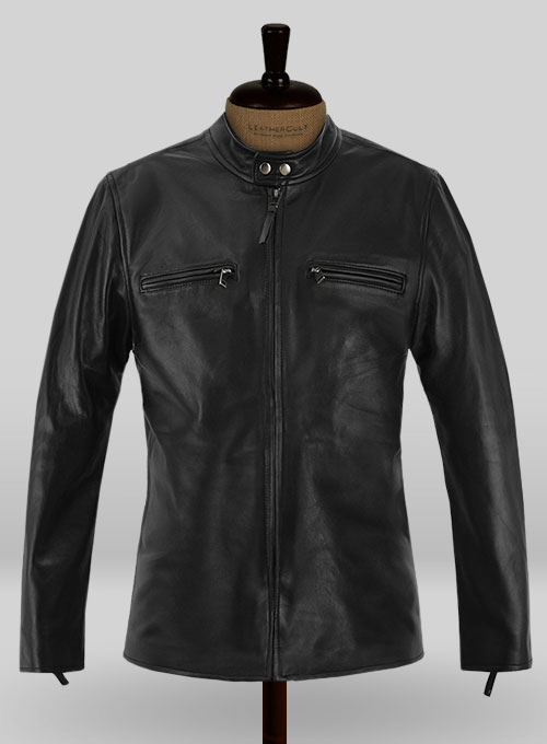 Black Bradley Cooper Burnt Leather Jacket
