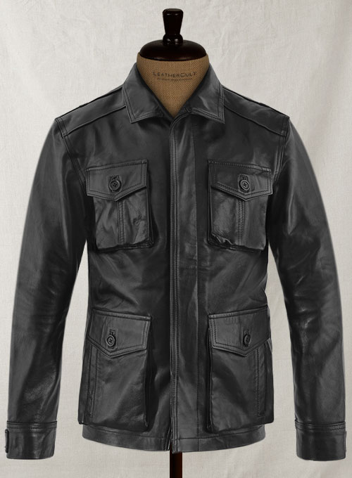 Black Jensen Ross Ackles Supernatural Season 7 Leather Jacket