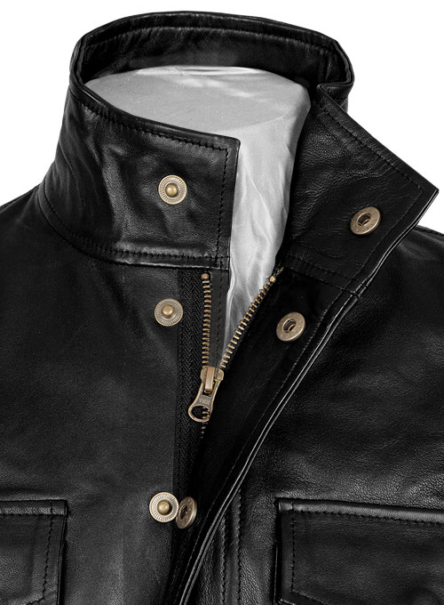 Black Leather Jacket # 126