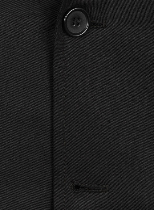 Black Merino Wool Manhattan Style Sports Coat - Click Image to Close