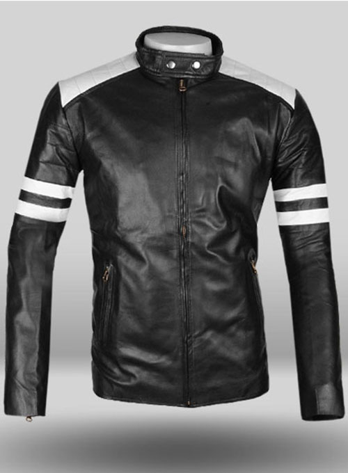 Black Fight Club Leather Jacket