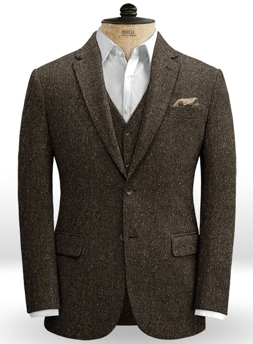 Brown Flecks Donegal Tweed Jacket