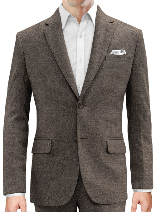 Carre Brown Tweed Jacket - Click Image to Close