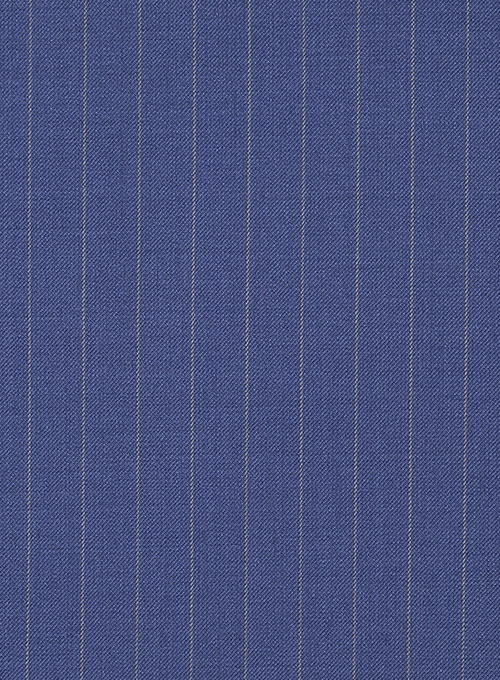 Chalkstripe Wool Royal Blue Jacket - Click Image to Close