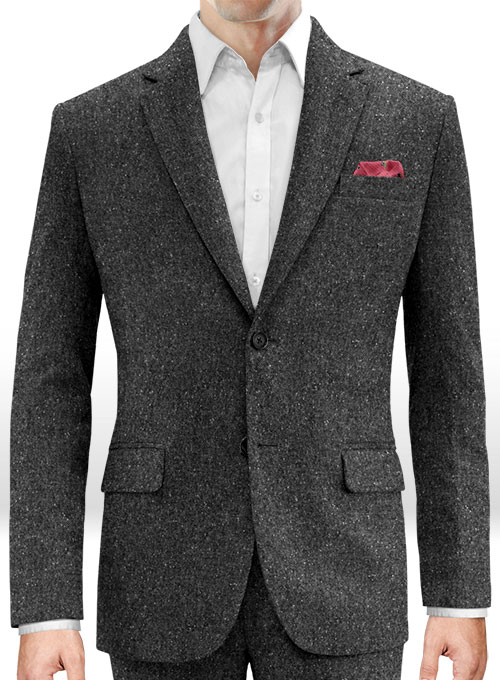Charcoal Flecks Donegal Tweed Jacket - Click Image to Close
