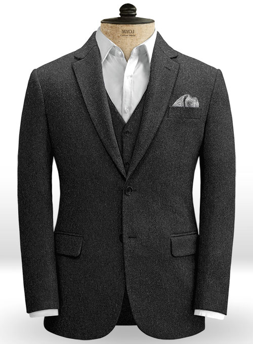 Charcoal Heavy Tweed Jacket