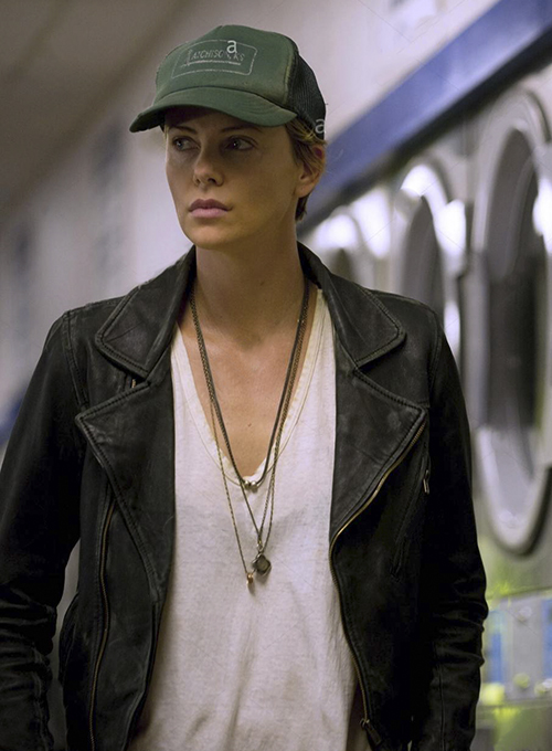 Charlize Theron Dark Places Leather Jacket