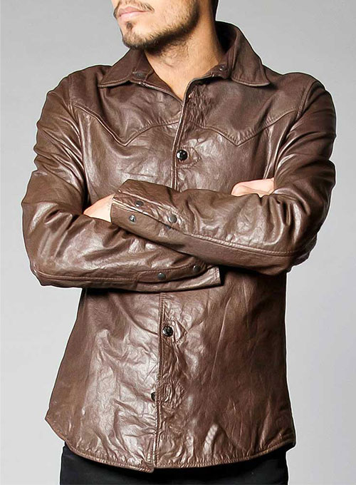 Chevelle Leather Shirt Jacket