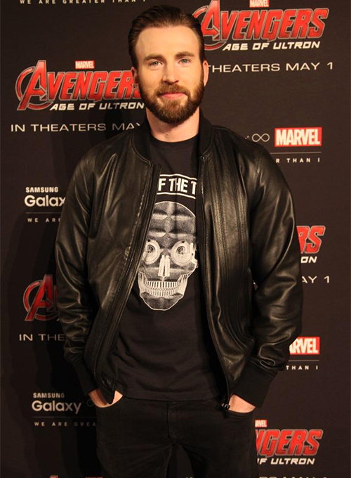 Chris Evans Leather Jacket - Click Image to Close