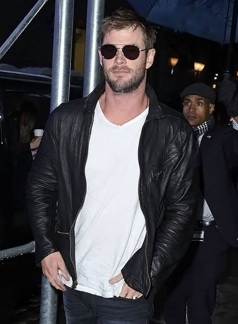Chris Hemsworth Leather Jacket - Click Image to Close