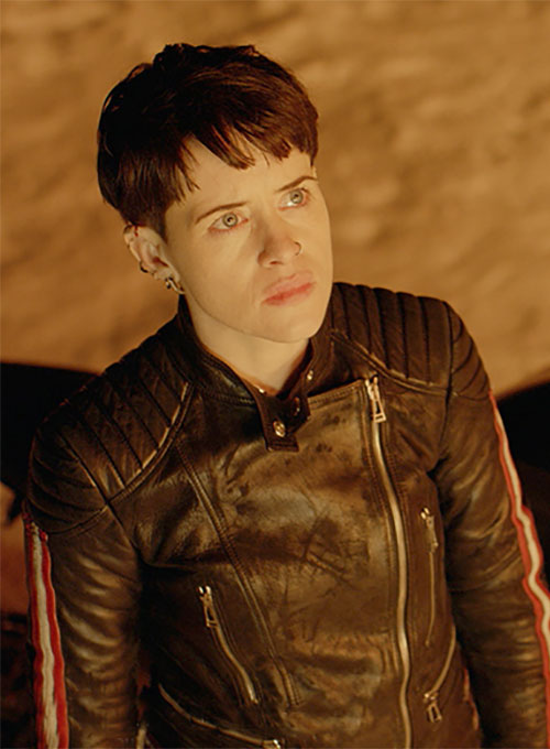 Claire Foy The Girl in the Spider's Web Leather Jacket #2