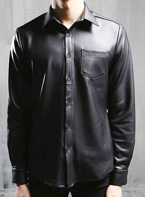 Men Leather Shirts