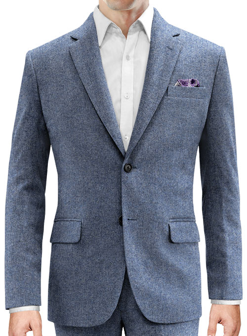 Classic Blue Denim Tweed Jacket - Click Image to Close