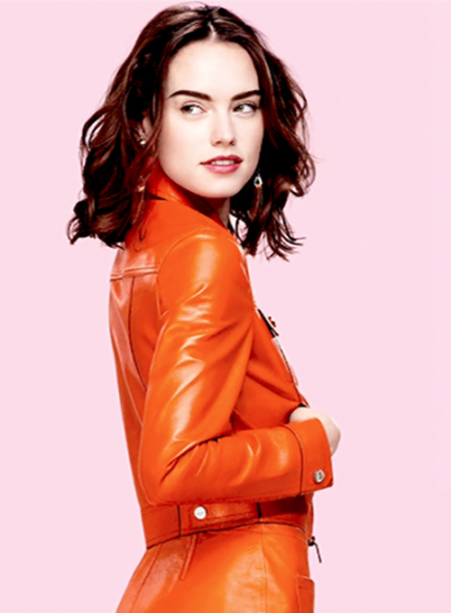 Daisy Ridley Leather Jacket