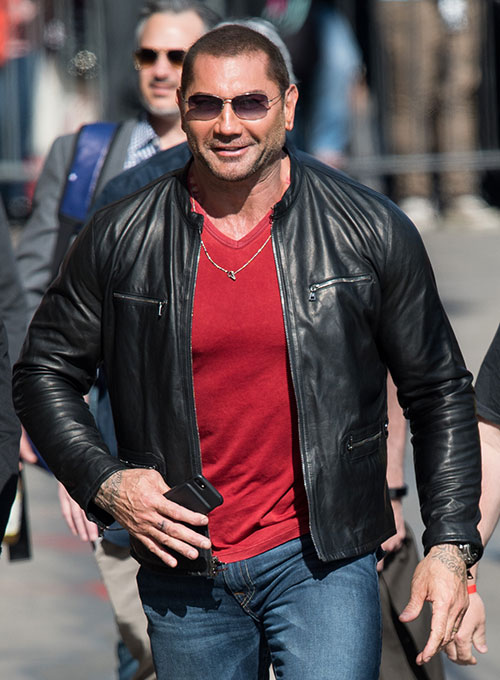 Dave Bautista Leather Jacket