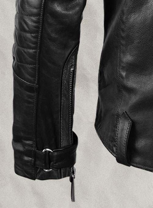 Thick Goat Black Washed & Wax David Leather Jacket - Click Image to Close