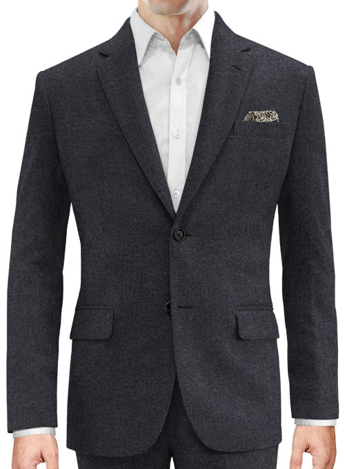 Charcoal Denim Tweed Jacket - Click Image to Close