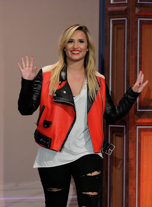 Demi Lovato Leather Jacket