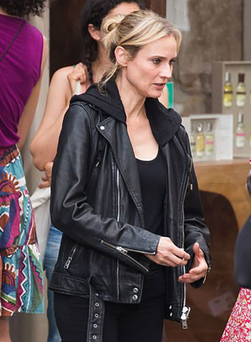 Diane Kruger Leather Jacket