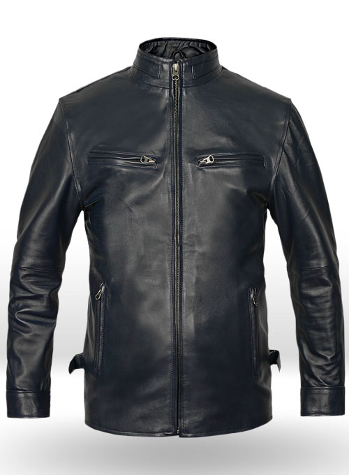 Dark Blue Vin Diesel Fast And Furious 6 Leather Jacket