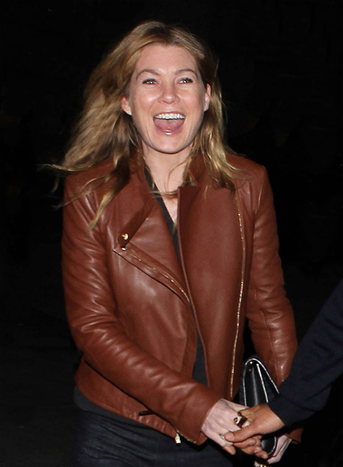 Ellen Pompeo Leather Jacket #1