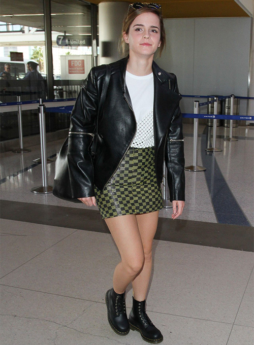 Emma Watson Leather Jacket #2