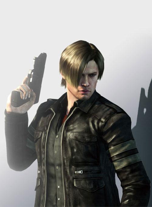 Resident Evil 6 Leon Kennedy Leather Jacket Resident Evil