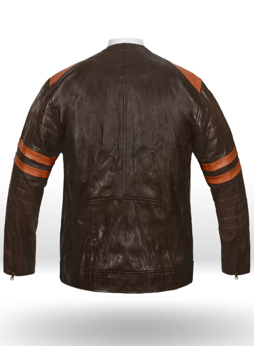 Leather Fighter T-Shirt Jacket - Click Image to Close