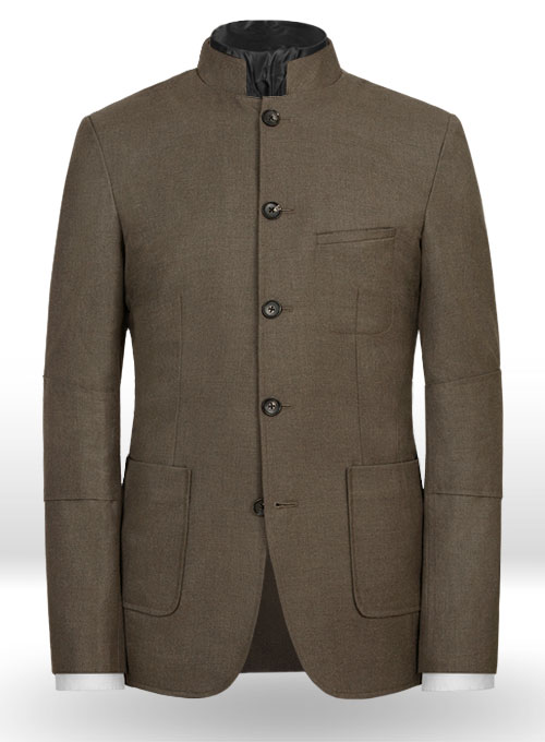 Frosted Brown Terry Rayon Breezer Style Jacket