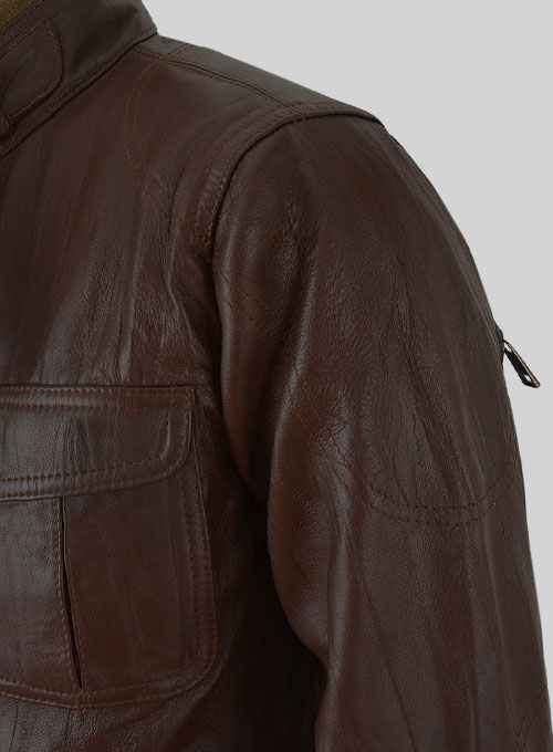 Gerard Butler Leather Jacket #1 - Click Image to Close