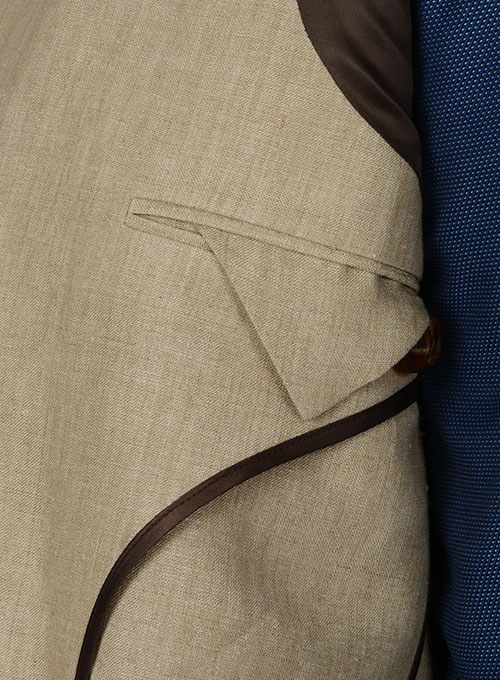 Italian Linen Unstructured Jacket - Click Image to Close