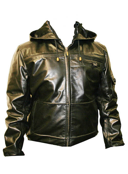 Leather Hood Jacket #704