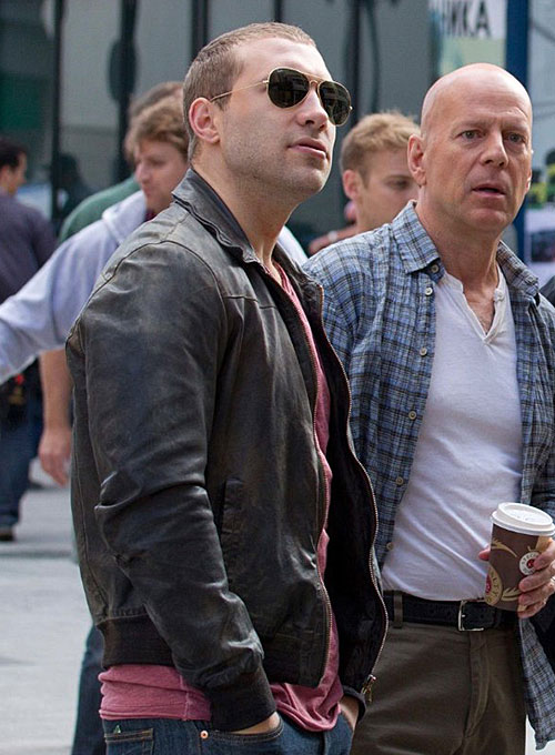 Jai Courtney A Good Day to Die Hard Leather Jacket - Click Image to Close