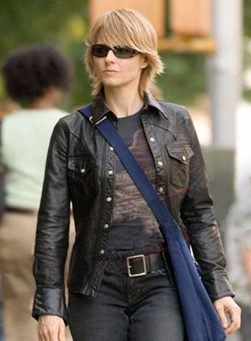 Jodie Foster The Brave One Leather Shirt