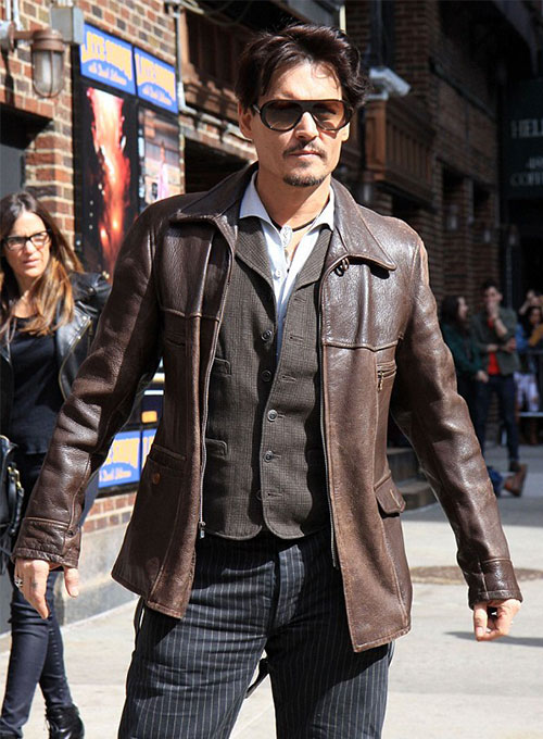 Johnny Depp Leather Jacket #1