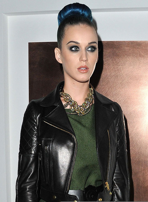 Katy Perry Leather Jacket - Click Image to Close